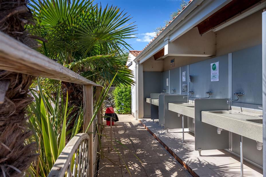 Les sanitaires du camping Antioche d'Oléron
