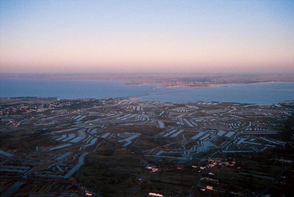Marais du sud de l'île d'Oléron au coucher du soleil