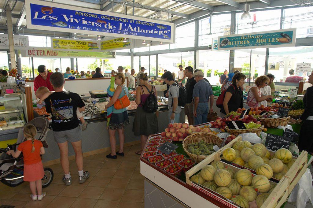 Le marché de St Trojan les Bains, île d'Oléron