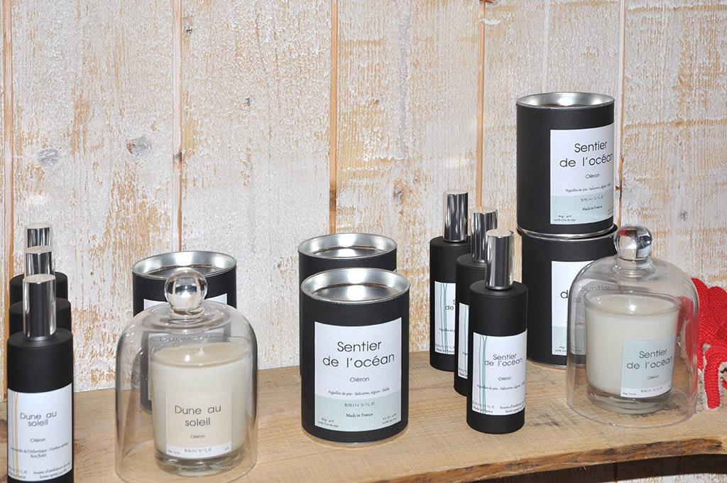 Brin d'Ile, île d'Oléron, bougies, parfums