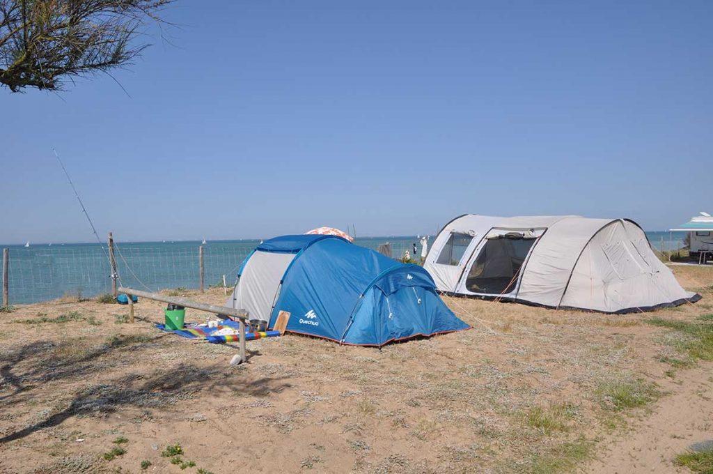 camping municipal de St Denis d'Oléron, bord de mer