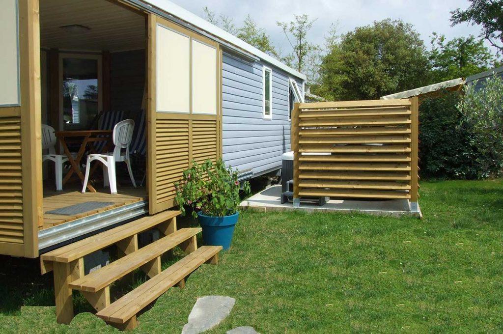 Camping le Sous Bois, Oléron, location cottage