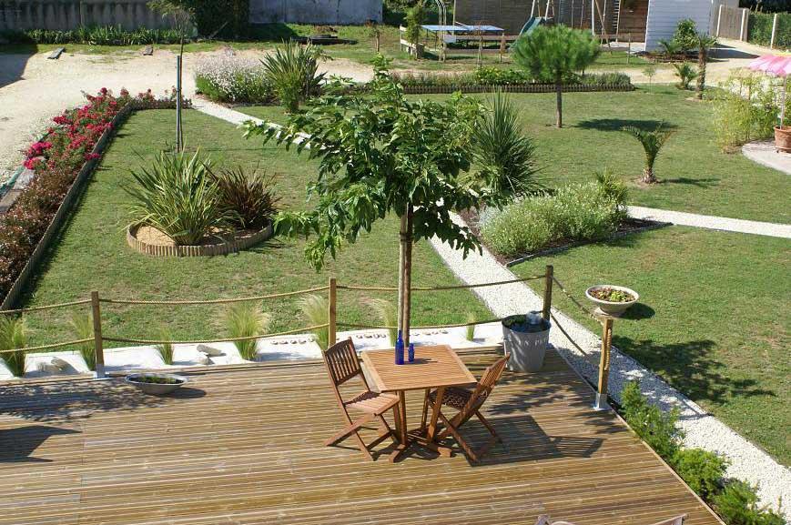Les Tranquilles, chambres d'hôtes, île d'Oléron, le jardin