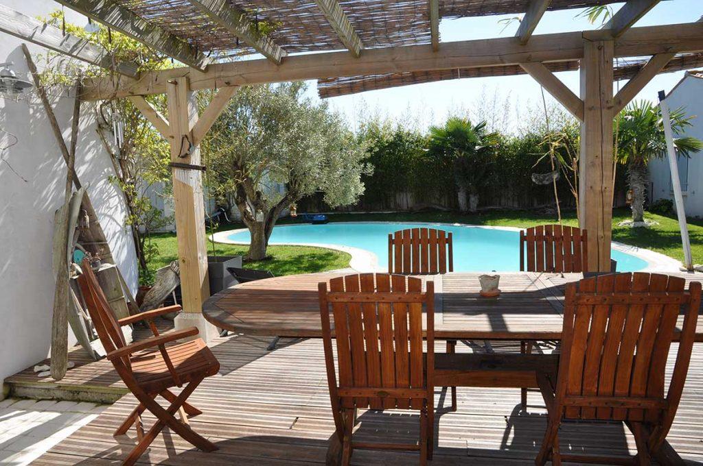 Chambres d'hôtes l'Ileau de Sophie, île d'Oléron, piscine, table petit déjeuner