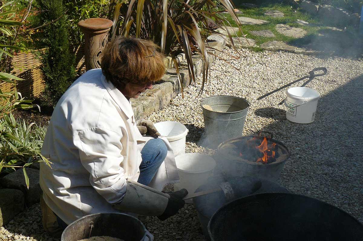 Sylvie Mougeotte, raku, poterie, île d'Oléron