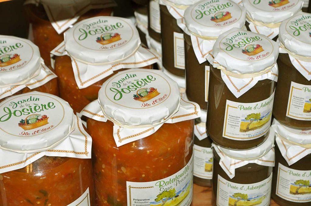 Conserves et confitures artisanales, produits bio île d'Oléron