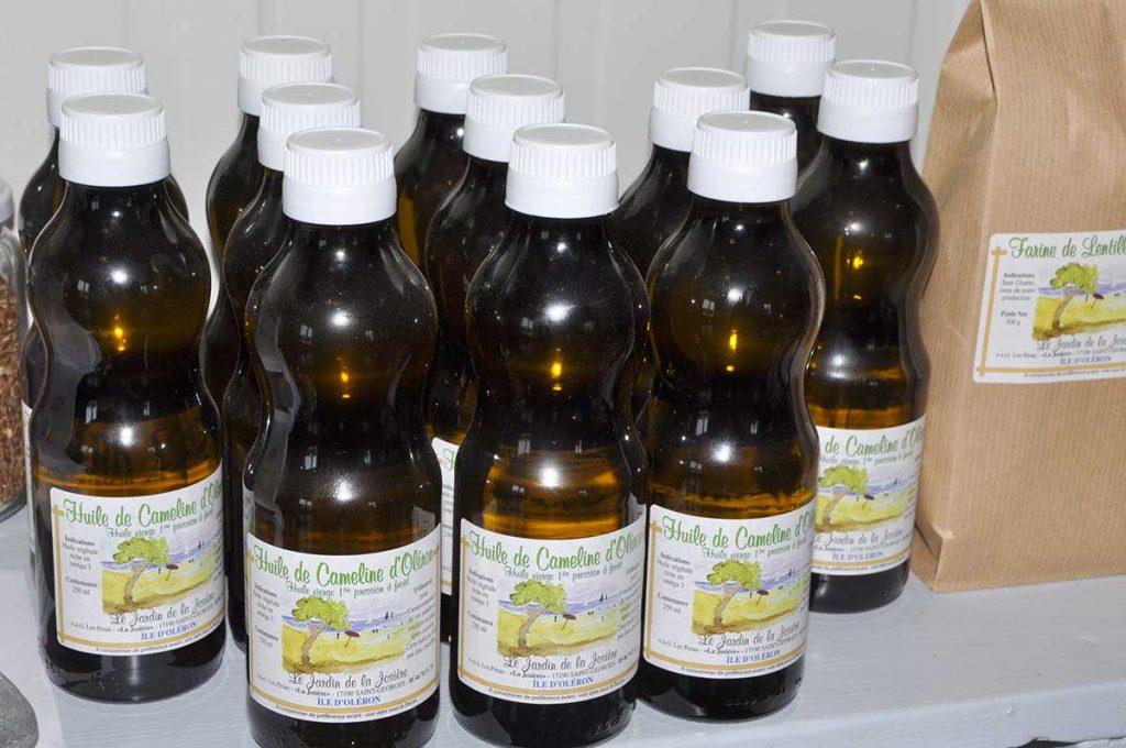 Le Jardin de la Josière, huile de cameline, farine de lentille