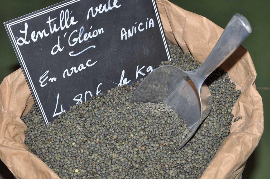 Lentilles d'Oléron en vrac et conditionnées