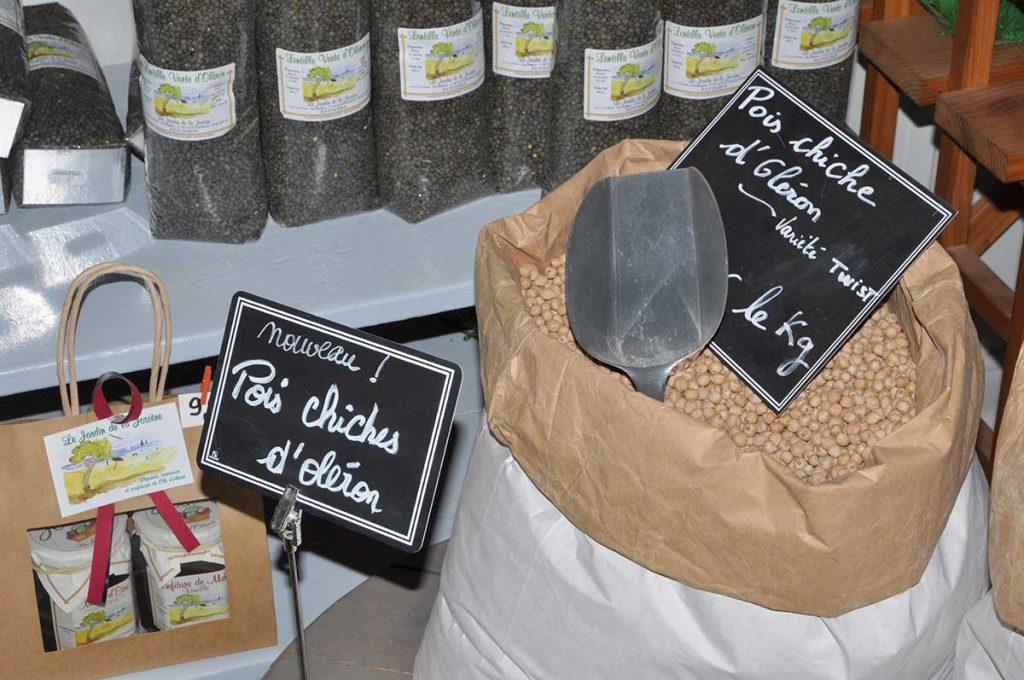Lentilles, poids chiches d'Oléron, le Jardin de la Josière