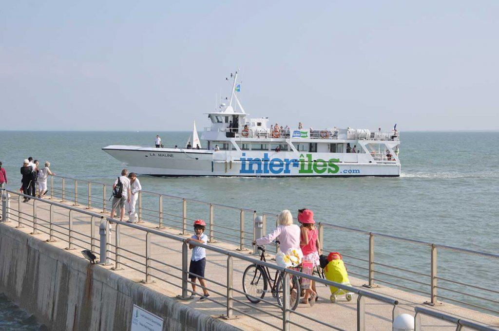 Croisières Inter Iles : embarquement île d'Aix