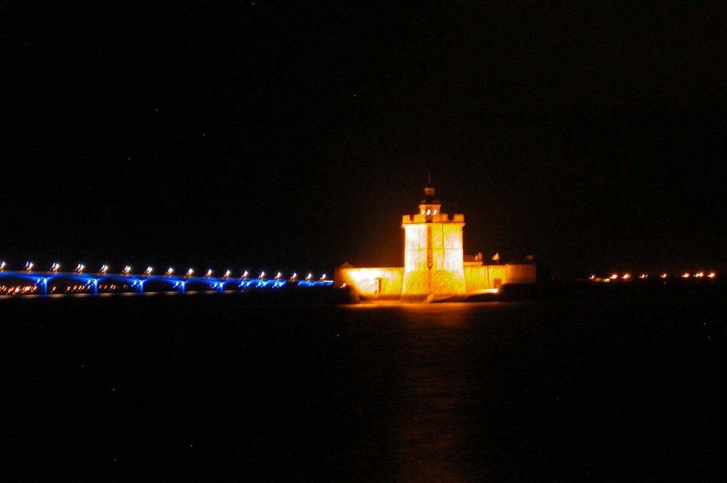 Fort Louvois à Marennes-Oléron la nuit