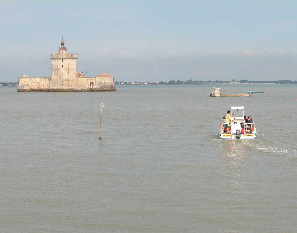 Fort Louvois - Marennes-Oléron, navette marée haute