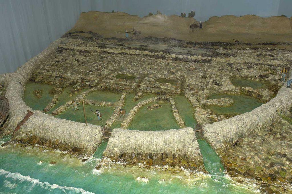 Phare de Chassiron, musée : maquette d'écluse à poisson