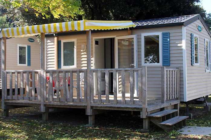 Camping Ostréa, île d'Oléron, location mobil-home et chalet