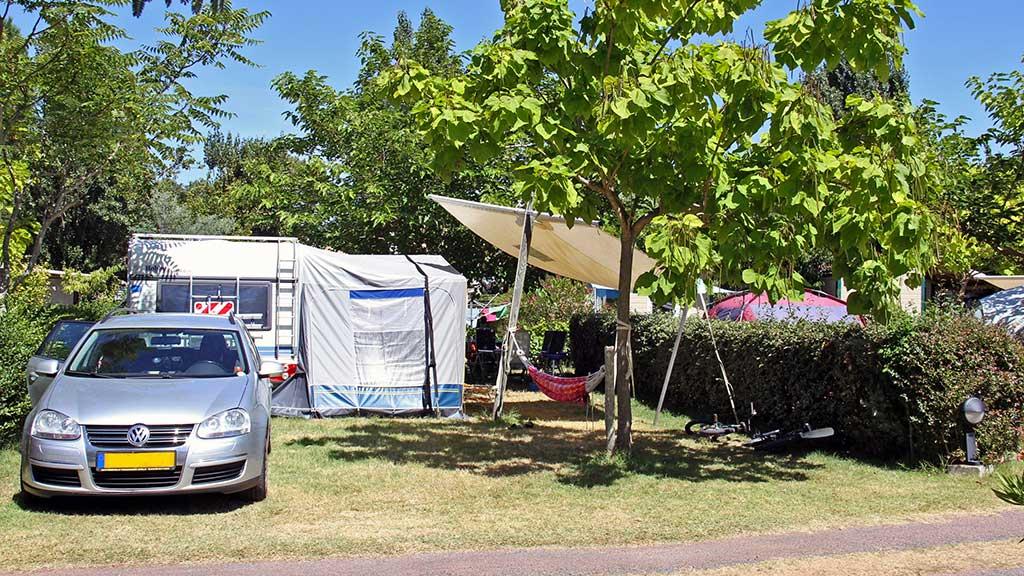 Camping la Brande, emplacement caravane et tente