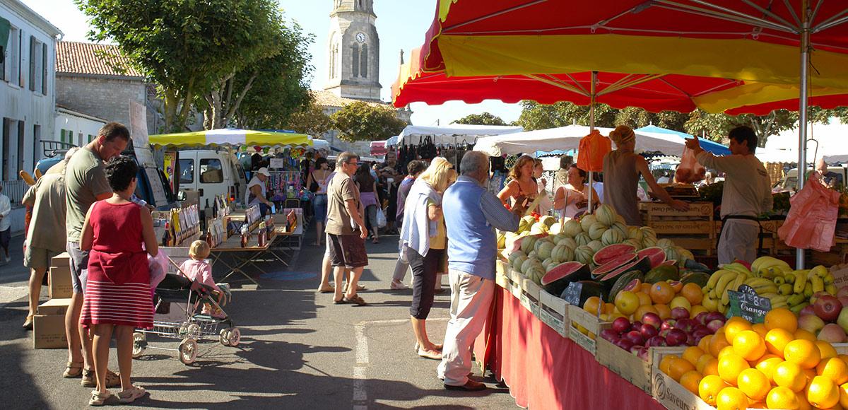 Les marchés de l'île d'Oléron