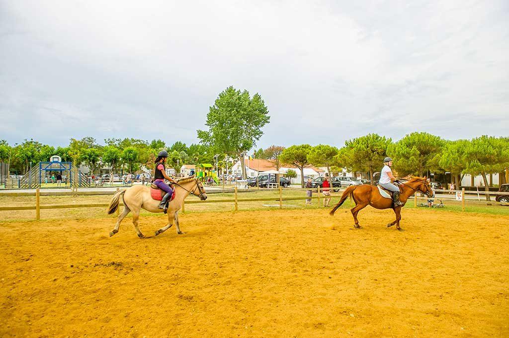 Camping Airotel Oléron, chalet, cours d'équitation