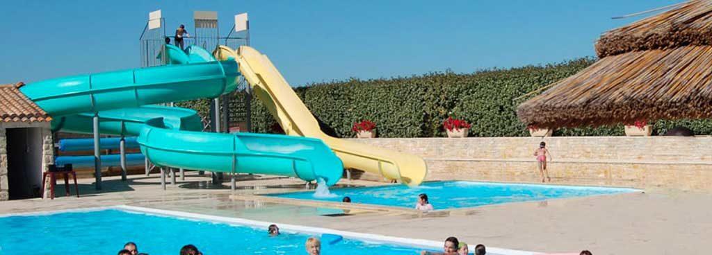 Camping les Oliviers, île d'Oléron, piscine, toboggan