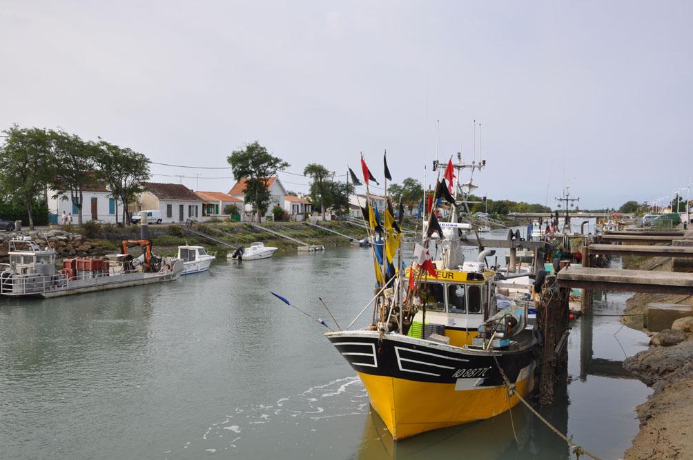 Chenal de Boyard, île d'Oléron, bateau de pêche