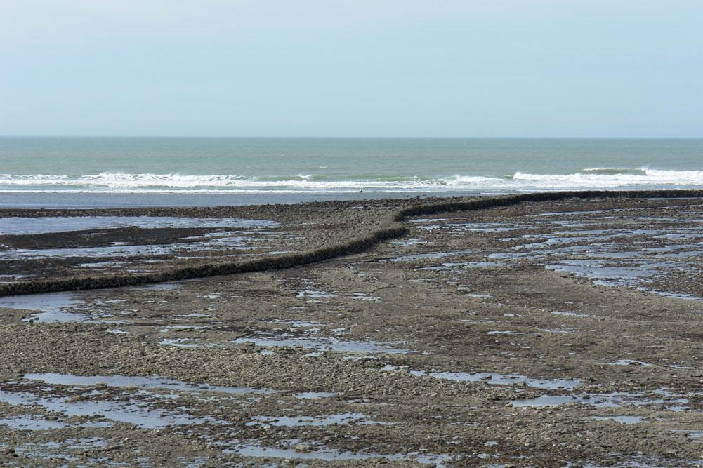 Chassiron, Ile d'Oléron, écluse à poissons à marée basse
