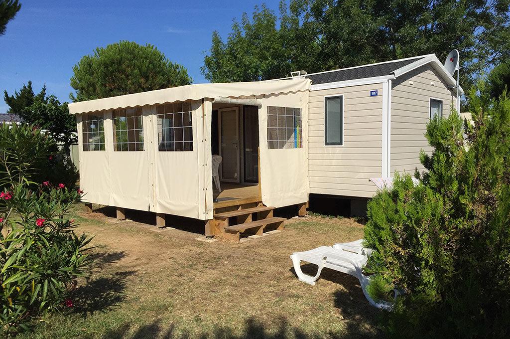 Camping la Boulinière à Oléron, location de mobil-home