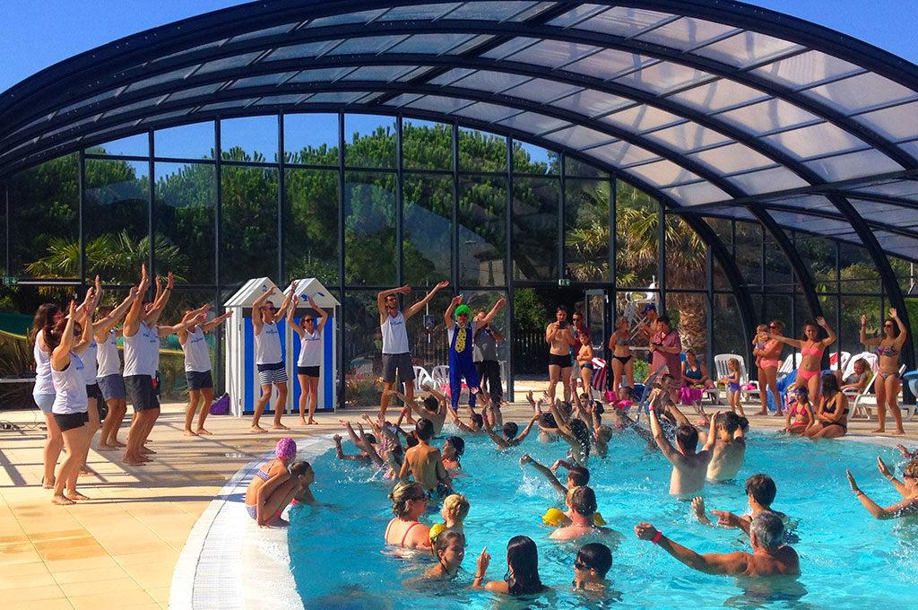 Camping la Boulinière, île d'Oléron, animation piscine