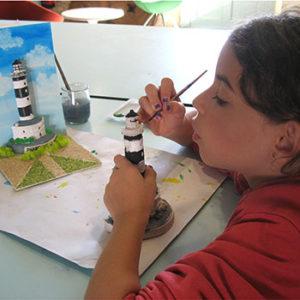 Atelier au Musée de l'île d'Oléron. Copie conforme.