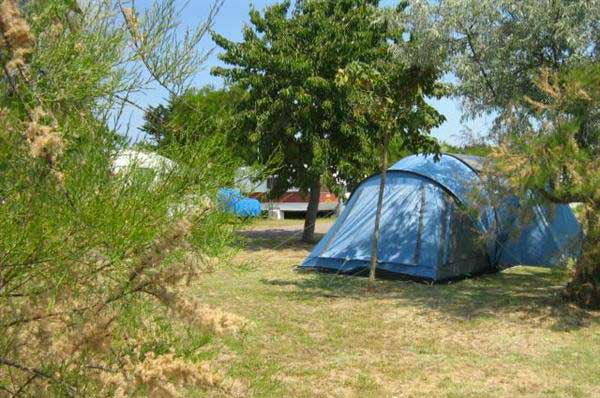 Camping les Flots N°4, île d'Oléron, emplacement tente, caravane