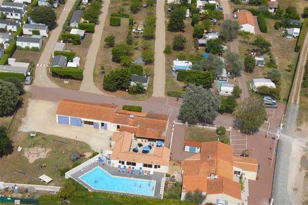 Camping les Flots N°4, Oléron, vue aérienne