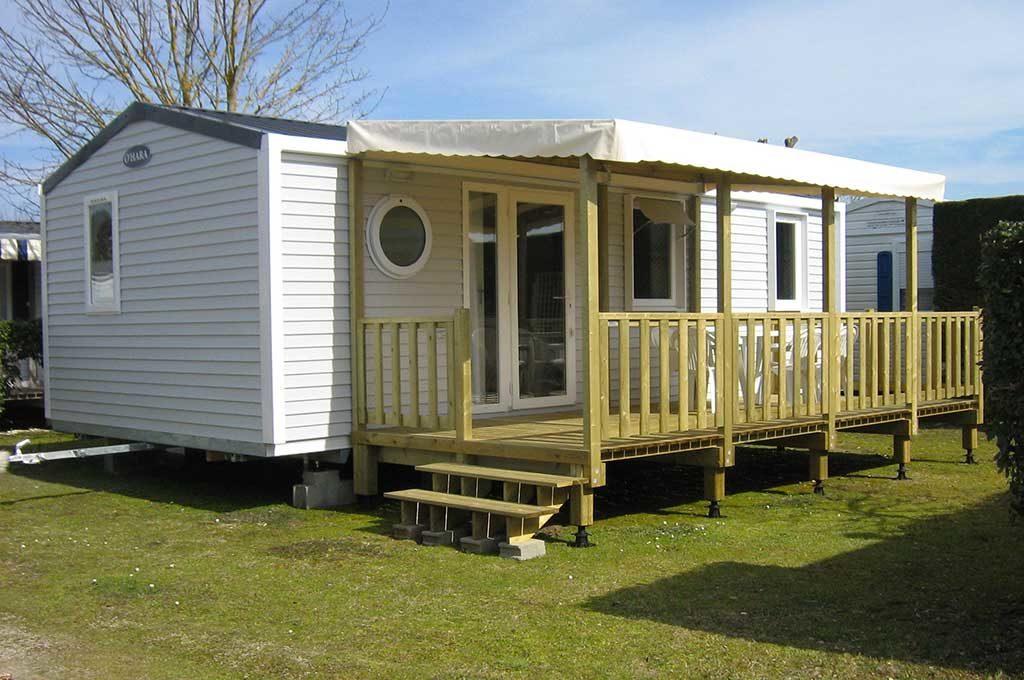 Camping les Flots N°4, île d'Oléron, location emplacement mobil-home