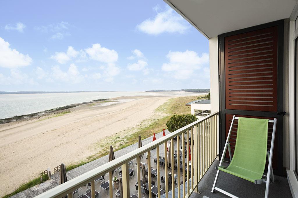Novotel Thalassa, île d'Oléron, chambre, terrasse sur mer