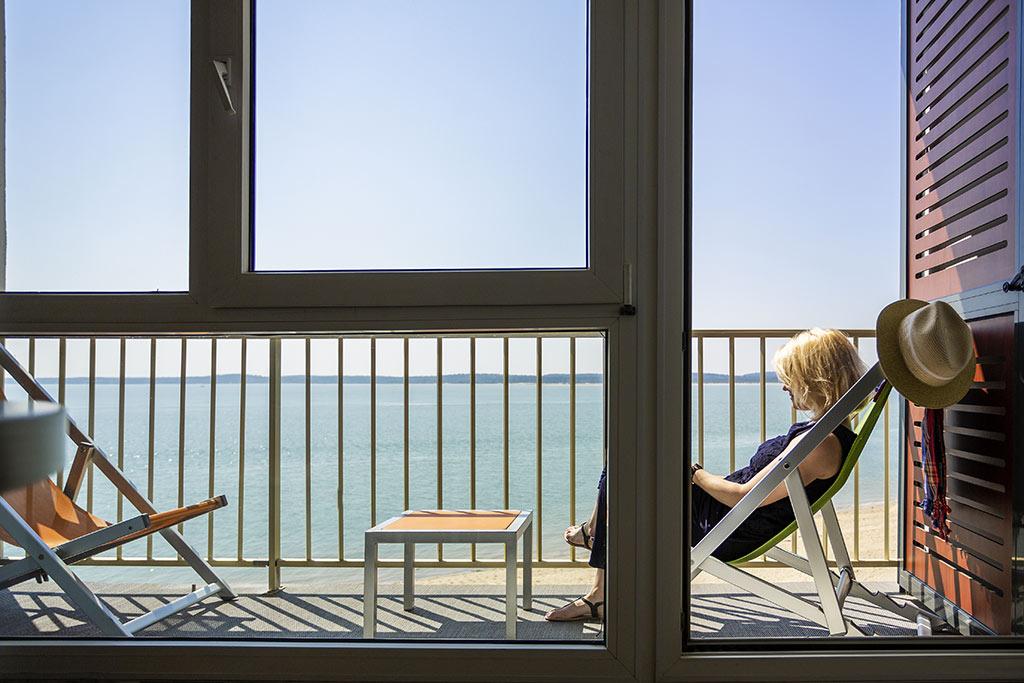 Novotel Thalassa, île d'Oléron, chambre, vue sur mer