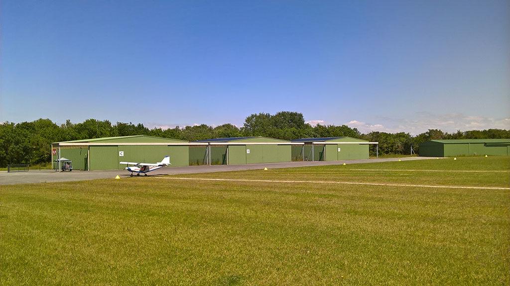 Oléron, installations photovoltaïques, aérodrome de St Pierre