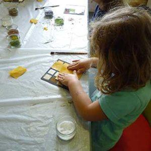 Atelier matière rayée au musée de l'île d'Oléron