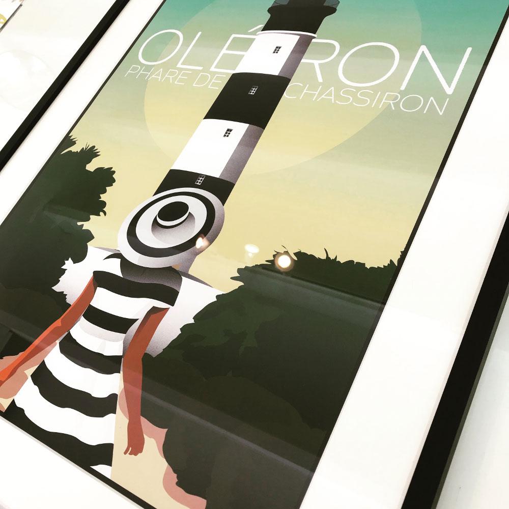 Ile aux images, affiches, cartes d'art, Oléron, la Cotinière