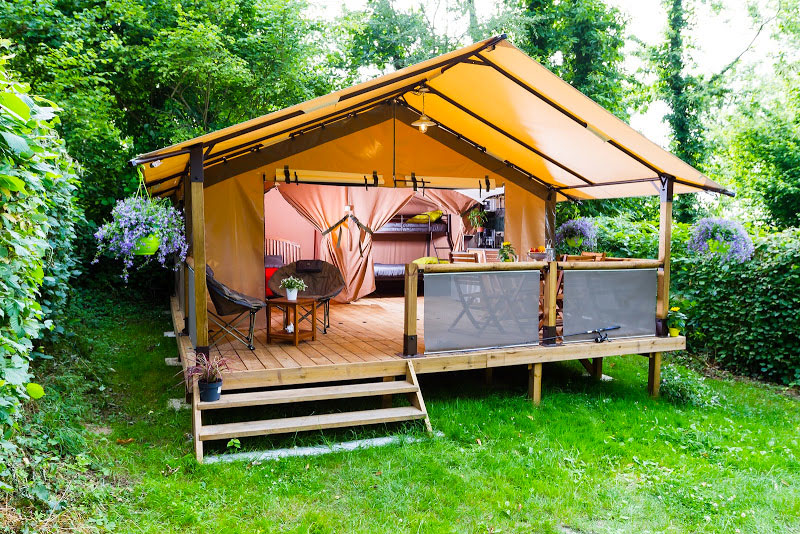 Camping les Floralies, Oléron, location de lodge