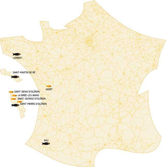 Pêcheries de la Cotinière, point de vente