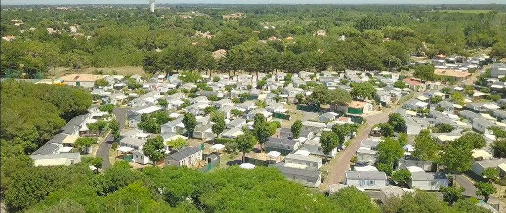 Camping les sables Vignier Oléron, vue aérienne