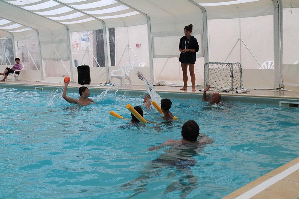 Camping les Sables Vignier, animation piscine, île d'Oléron