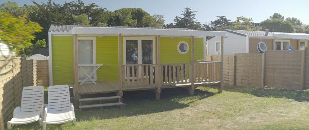 Camping les sables Vignier Oléron, location de mobil-home