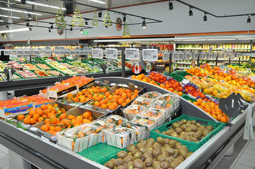 hypermarché à Dolus d'Oléron, fruits et légumes