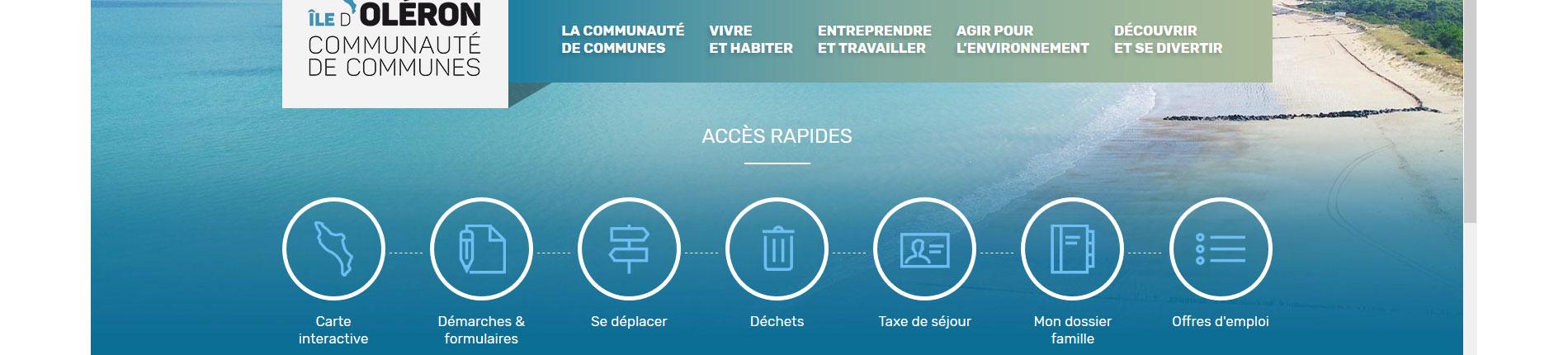 Site internet de la CDC île d'Oléron