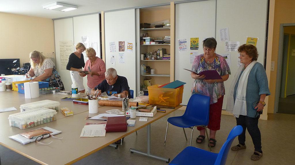 Atelier émaux, Foyer Rural, St Denis, île d'Oléron