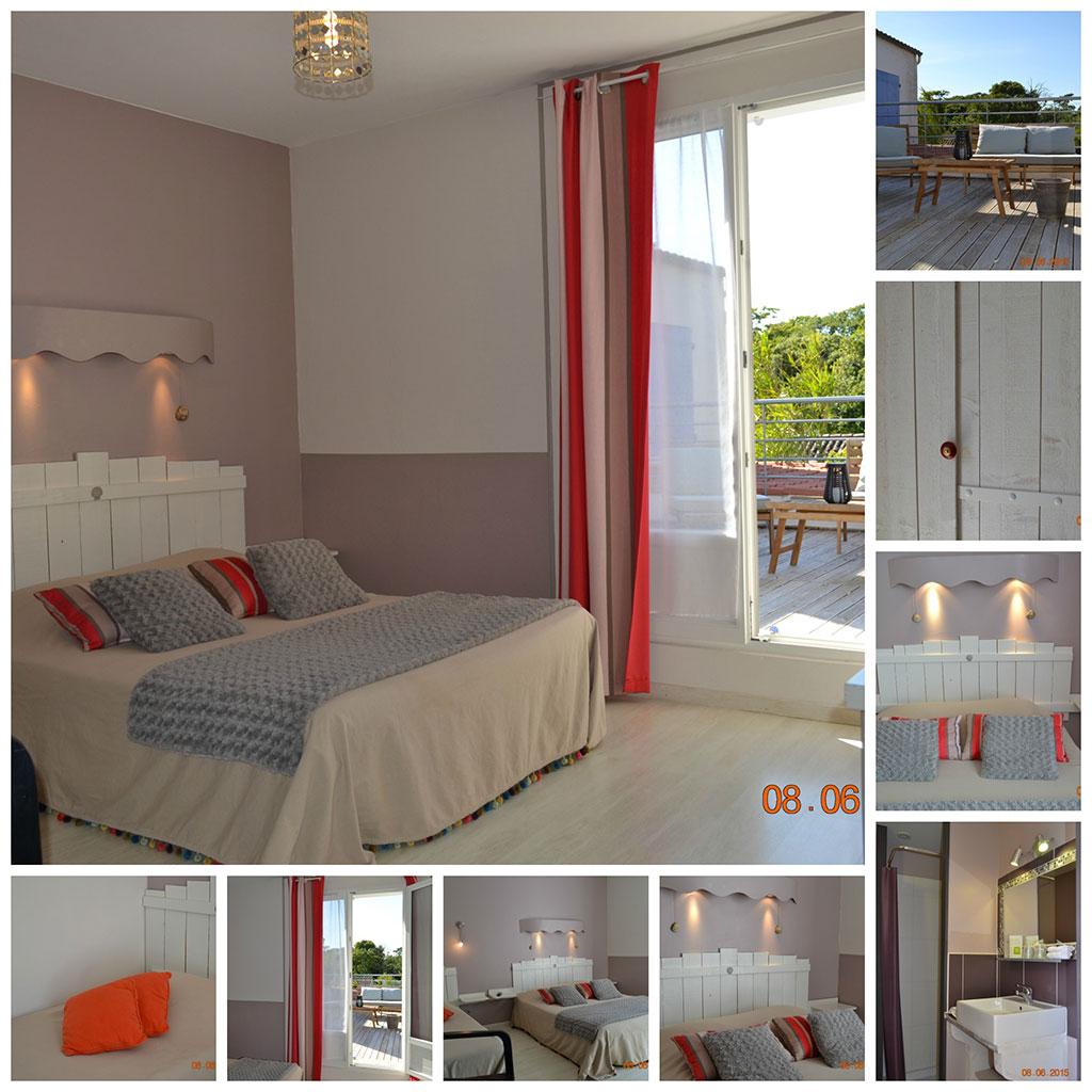 Atlantic hôtel île d'Oléron, une chambre