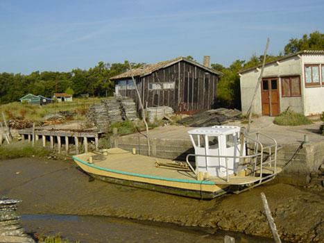 Valorisation du patrimoine Ile d'Oléron - Chaland Fort Royer
