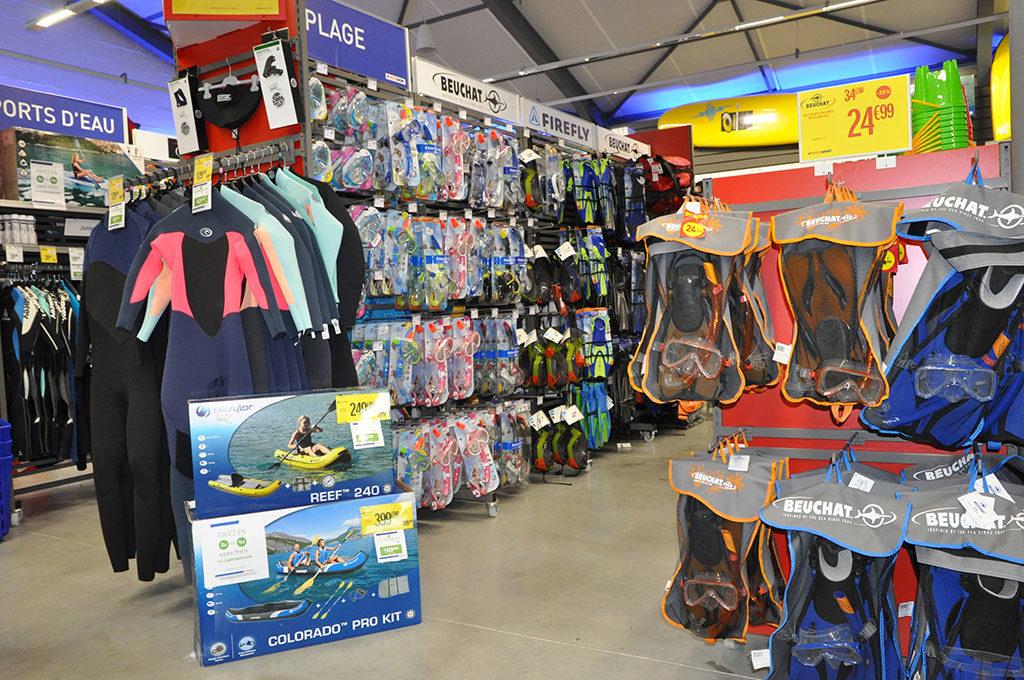Intersport Oléron, combinaison surf plongée, matériel apnée