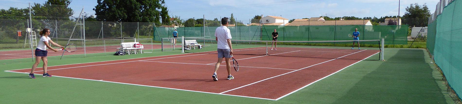 La Raquette Cayenne, club de tennis, Saint-Pierre, île d'Oléron
