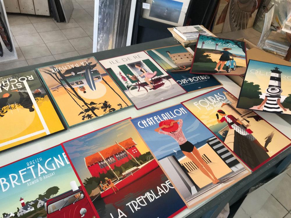 affiches, île d'Oléron, île aux images