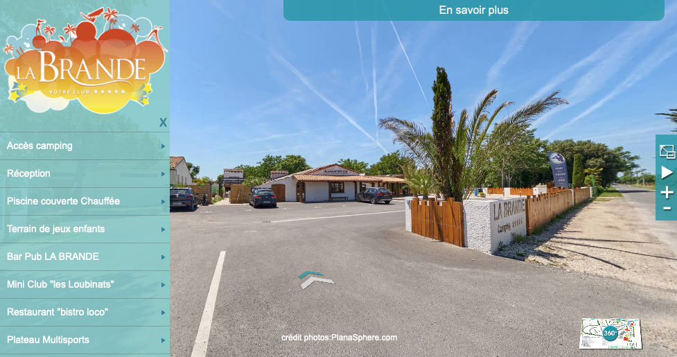 Visite virtuelle du camping la Brande, île d'Oléron