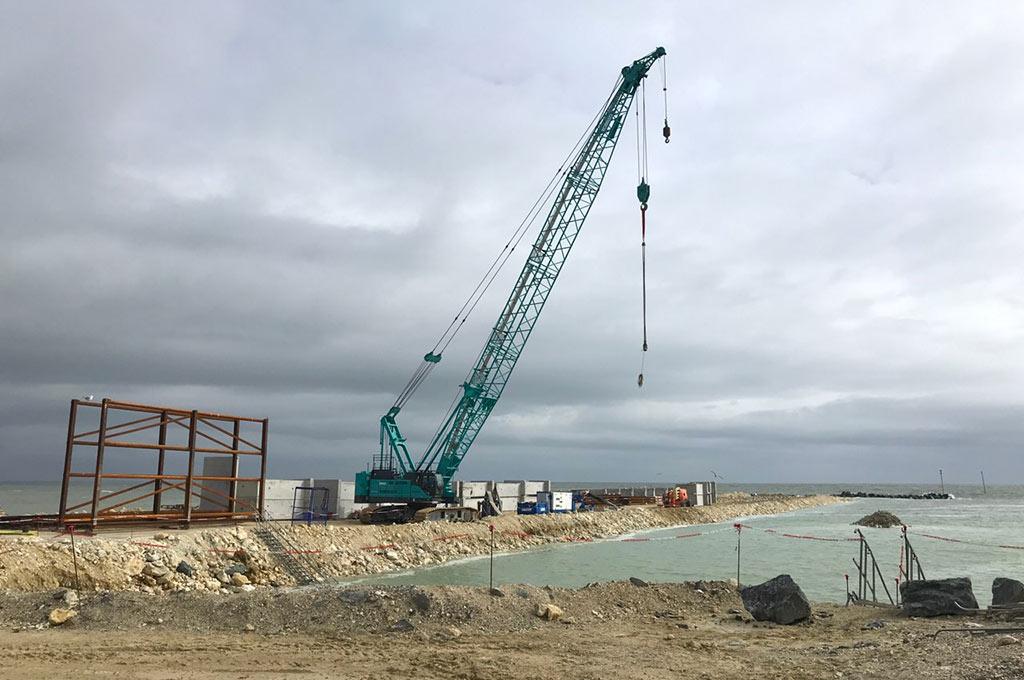 Agrandissement et modernisation du port